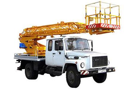 автовышка. автоподъемник АП-18-10 на базеь ГАЗ-3309